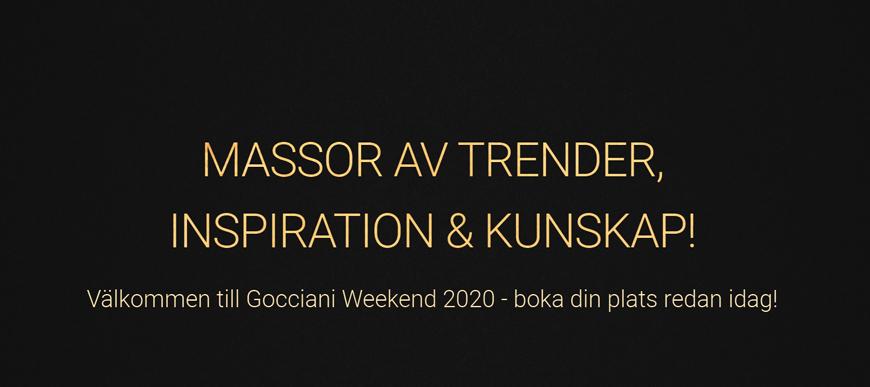 Gocciani Weekend - För frisörer